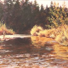 Big Spring Creek | Acrylic | 8x10 | SOLD